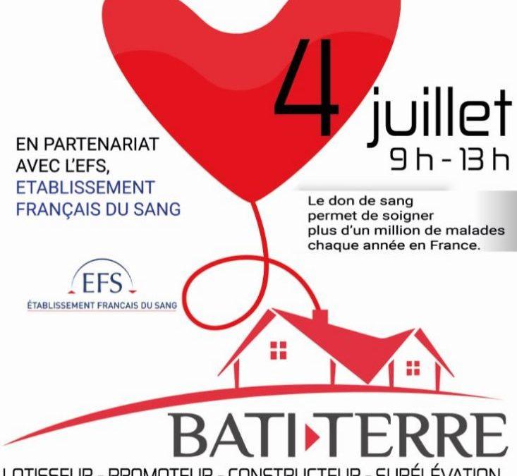 Don du sang :  venez donner le 4 juillet